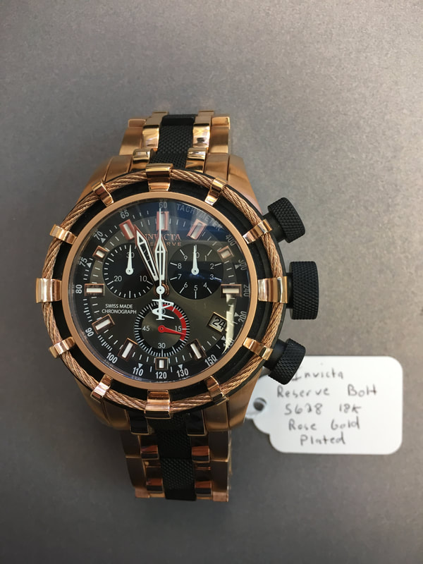 Invicta Reserve Bolt 18K Rose Gold Plated 5628